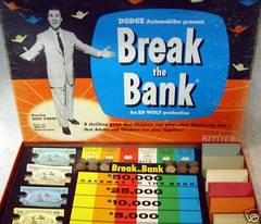 BREAK THE BANK Game © 1955 Betty*B