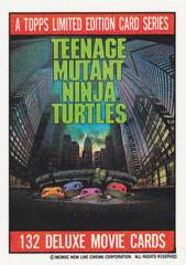 TEENAGE MUTANT NINJA TURTLES Movie 1 Card Set w/ Stickers © 1990