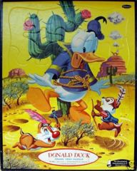 Walt Disney's DONALD DUCK © 1960 Whitman 4428 Tray Puzzle