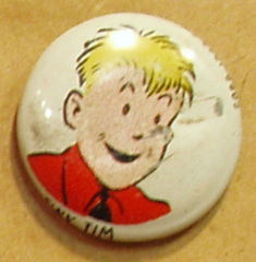 TINY TIM Kellogg's Pep Pin Pinback Button