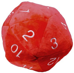 Giant Novelty Plush D20 (red)