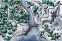 Dungeons and Dragons RPG: Frozen Wilderness Vinyl Game Mat