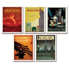 Firefly Travel Posters Set of 5
