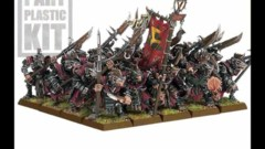 Warhammer skaven army with gun
