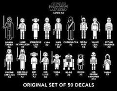 Star Wars Family Car Decals - set of 50