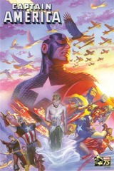 Captain America #22 75th Anniversary By Ross Poster