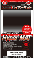 KMC Card Sleeves Hyper Mat Black