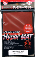 KMC Hyper Mat Red Standard Sleeves 80pack