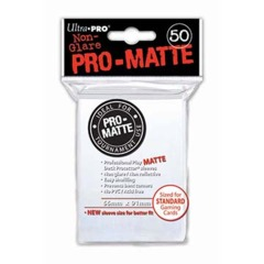 Ultra Pro PRO-Matte Standard Sleeves - White (50ct)