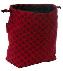 GBG Dice Bag - Red Dragon Scales Master
