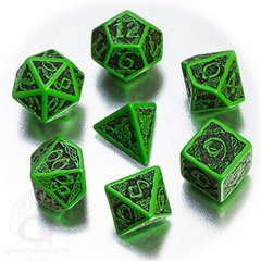 Green with Black - Celtic 7 Die Set