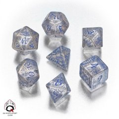 Classic Elven Transparent Blue 7 Dice Set