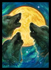 Legion Double Matte Sleeves - Wolf Moon 50 ct