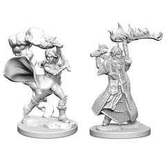 Pathfinder Deep Cuts Unpainted Miniatures: Human Female Cleric