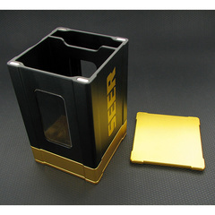 Deck Box: Seer- Black and Gold
