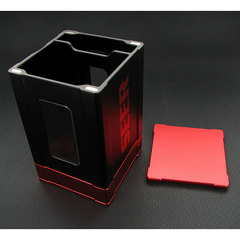 Deck Box: Seer- Black and Red