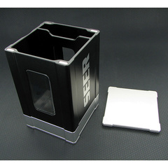 Deck Box: Seer- Black and Silver