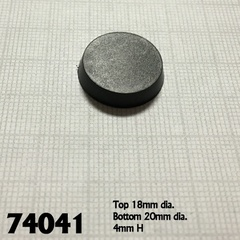 20mm Round Familiar Base -25 ct