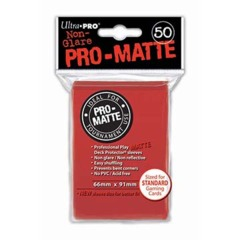 Ultra Pro PRO-Matte Standard Sleeves - Red (50ct)