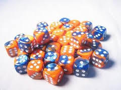 12mm D6 - Blue-Orange/white