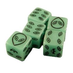 Glow in the Dark Alien Dice (12)