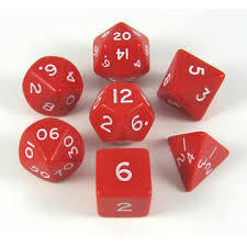 Koplow - Jumbo 28mm  Polyhedral - Opaque Red