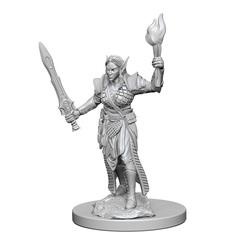 Pathfinder Deep Cuts Unpainted Miniatures: Elf Female Fighter