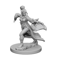 Pathfinder Deep Cuts Unpainted Miniatures: Elf Female Sorcerer