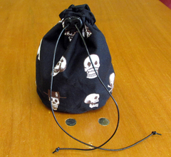 Large Skulls Dice Bag