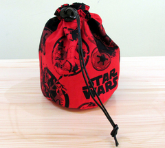 Large Star Wars dice bag. Red.