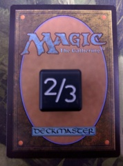 Metal Tarmogoyf Dice Black Small Magic the Gathering