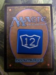 Metal Planeswalker Loyalty Dice Blue (7-12) Magic the Gathering