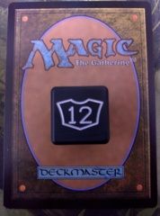 Metal Planeswalker Loyalty Dice Black Small (7-12) Magic the Gathering