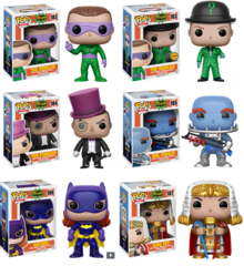 Pop Heroes: Batman Classic TV 6 Pops Including Chase Riddler!