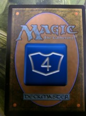 Metal Planeswalker Loyalty Dice Blue (1-6) Magic the Gathering