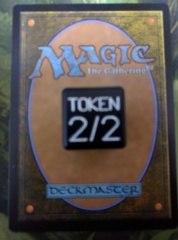 Metal Token Dice Black Small Magic the Gathering