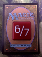 Metal Tarmogoyf Dice Red Magic the Gathering