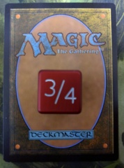 Metal Tarmogoyf Dice Red Small Magic the Gathering