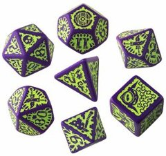 Goblin Purple & Green Pathfinder 7 Dice Set