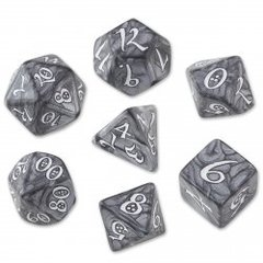 Smoky & White Classic 7 Dice Set