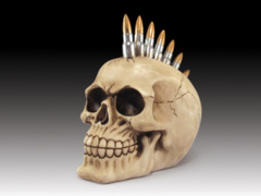 Skull with Bullet Mowhawk