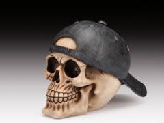 Skull with Backward Hat