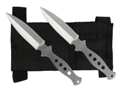 Silver Throwing Knife Set A04B