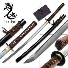 Ten Ryu Brown Wrap Samurai Sword TR018BR