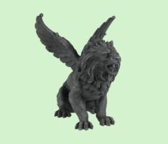 Winged Lion Gargoyle