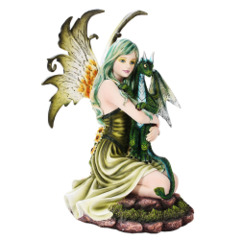 Fairy with Green Dragon