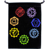 Velvet Bag Embroidered 7 Chakras Pouch