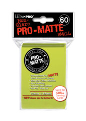 Ultra Pro Matte Non-Glare Small Sleeves 60ct - Bright Yellow (#84150)