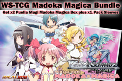 Weiss Schwarz Bundle - Get x2 Madoka Magica Booster Boxes plus x1 Queen's Blade Sleeve on Ideal808