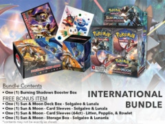 Pokemon SM03 International Edition - Get x1 Burning Shadows Booster Box, & Card Accessories * PRE-ORDER Ships AUG.4